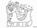 Santa Claus In Sleigh Coloring Page Christmas Coloring Pages for Kids