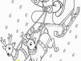 Santa Claus In Sleigh Coloring Page Santa Drawings