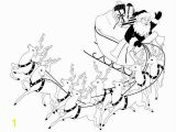 Santa Claus In Sleigh Coloring Page Santa S Sleigh Coloring Pages Christmas Pinterest
