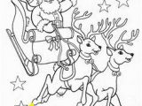 Santa Claus with Reindeer Coloring Pages Omalovánka Christmas Craft