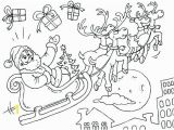 Santa Claus with Reindeer Coloring Pages Sleigh Coloring Page Sleigh Coloring Page Beautiful the Best
