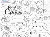 Santa Coloring Pages Printable Free Christmas Stamps Santa Claus Stamps Mercial Use Xmas