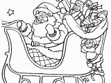 Santa Coloring Pages Printable Free Santa Sleigh Ride Christmas Coloring Page