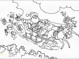 Santa Sleigh and Reindeer Coloring Page Coloring Pages Santa and His Sleigh at Getcolorings