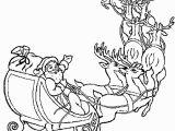 Santa Sleigh and Reindeer Coloring Page Line Christmas Coloring Book Printables