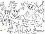Santa Sleigh and Reindeer Coloring Page Santa and His Sleigh Coloring Pages