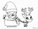 Santa Sleigh and Reindeer Coloring Page Santa Claus Printable Coloring Pages for Christmas