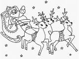 Santa Sleigh and Reindeer Coloring Page Santa Sleigh and Reindeer Coloring Pages Wallpapers Hd