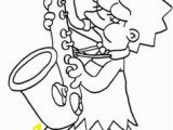 Saxophone Coloring Pages 110 Best Coloring Pages the Simpsons Images On Pinterest