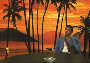 Scarface Sunset Wall Mural Scarface 1983 ТВ Ретро Tv Retro Movies