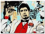 Scarface Wall Mural Scarface Classic Movie Silk Poster Al Pacino Wall Art Print Painting