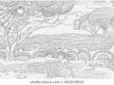 Scenic Coloring Pages Adults Colour Africa Stock Vectors & Vector Art