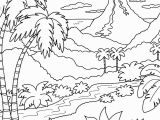 Scenic Coloring Pages Adults Tropical Nature Scenery Coloring