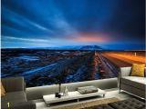 Scenic Wall Murals Nature Custom 3d Murals Papel De Parede Iceland Scenery Roads Sky