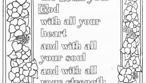 School Age Coloring Pages Deuteronomy 6 5 Bible Verse to Print and Color This is A