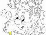 School Supplies Coloring Pages Printables Back to School Coloring Page Freebie