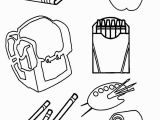 School Supplies Coloring Pages Printables Free Drawing School at Getdrawings