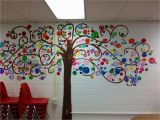 School Wall Mural Painting Bubble Tree I Painted In My Classroom