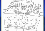 Scooby Doo Coloring Pages Mystery Machine Scoob Mystery Machine Coloring Page