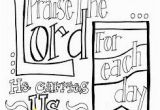 """Scripture Coloring Pages for Adults Free Free Printable Scripture Coloring Page """"praise the Lord for Each"""