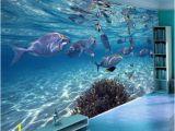 Sea Life Murals Photo Wall Mural 3d Wallpaper Cartoon Creative Submarine World Marine Life