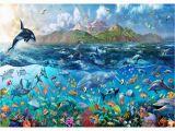 Sea Life Murals Photo Wall Mural Free Rainbow Tropical Underwater Ocean Sea Life