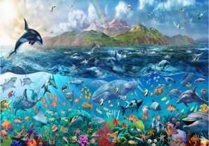 Sea Life Murals Photo Wall Mural Free Rainbow Tropical Underwater Ocean Sea Life