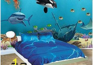 Sea Life Murals Photo Wall Mural Ocean Mural Underwater Sea Wall Mural for Kids Room Walls