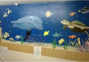 Sea Life Murals Photo Wall Mural Sealife Mural In Nursing Home Bathroom