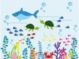 "Sea Life Wall Murals Under the Sea"" Peel & Stick Boys Nursery Wall Decals In 2019"