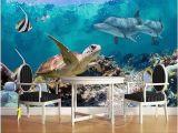 Sea Turtle Wall Mural 3d Fish Sea Turtle Dolphin Wallpaper Wallpapermuralsfloors