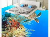 Sea Turtle Wall Mural Pvc Self Adhesive Customized 3d Floor Painting Wall Paper Sea Turtle Seaweed Coral Bathroom Bedroom 3d Waterproof Floor Painting Stickers Wallpaper Hd