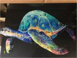 Sea Turtle Wall Mural Sea Turtle original Artwork Wood and Acrylic Mini Wall Mural Stone Clay Mosaics Shale Glass Tiles and Other Embezzlements