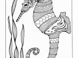 Seahorse Coloring Pages for Adults Colorful Seahorse Adult Coloring Page