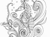Seahorse Coloring Pages for Adults Lostbumblebee Grown Up Colouring Sheet Sea Horse