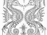 Seahorse Coloring Pages for Adults Printable Sea Horse Coloring Page Instant Download Adult