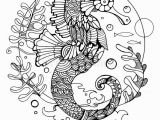 Seahorse Coloring Pages for Adults Sea Horse Coloring Book for Adults Vector Stock Vector Image