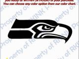 Seattle Seahawks Wall Mural Seattle Seahawks 1 Vinyl Decal Car Truck Window Wall Fice Home Decor Game Room Man Cave Bar Football Helmet Mural Many Sizes & Colors