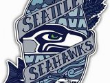 Seattle Seahawks Wall Mural Seattle Seahawks Nfl Emblem Car Bumper Sticker Decal 3 X 5