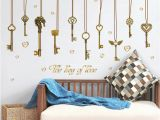 Self Adhesive Wall Murals Stickers the Key Love Diy Home Decorative Wall Sticker Home Decor Self Adhesive Wall Decals Vinilos Decorativos Pegatinas De Pared 60x90cm Pc Decorative