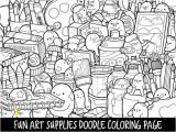 Selling Coloring Pages On Etsy Art Supplies Doodle Coloring Page Printable Cute Kawaii