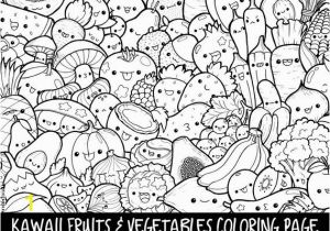 Selling Coloring Pages On Etsy Fruits & Ve Ables Doodle Coloring Page Printable