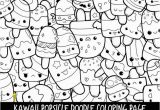 Selling Coloring Pages On Etsy Popsicle Doodle Coloring Page Printable Cute Kawaii Coloring