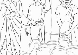 Sermons4kids Coloring Pages Sermons4kids Coloring Pages New Jesus Turns Water Into Wine Coloring