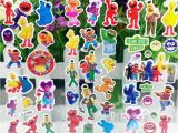 Sesame Street Wall Mural 10 Sheets Sesame Street Puffy Bubble Stickers Cartoon Waterpoof Diy