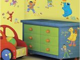 Sesame Street Wall Mural Amazon Sesame Street Wall Decal Cutouts Home & Kitchen