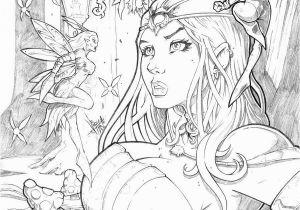 Sexy Fairy Coloring Pages Grimm Fairy Tales Wonderland 35 Pencil by Vinz El Tabanas