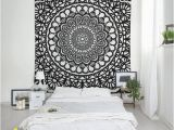 Shabby Chic Wall Murals Boho Tapestry Mandala Wall Art Shabby Chic Decor Fabric Wall Hanging Black and White or Custom Color Bedroom Living Room Decor Sp061