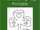 Shamrock Printable Coloring Page Holy Trinity Shamrock Coloring Page Printable
