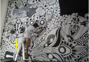 Sharpie Wall Mural Zentangle Uniposca Cerca Con Google Diy for Le Home